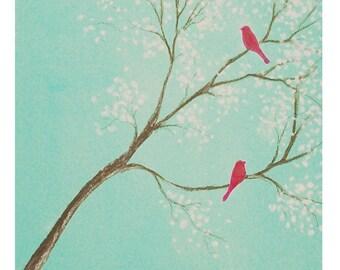 Duo - original bird painting