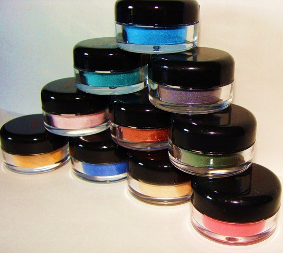 FREE Shipping Sample Baggies Hot Deal...Any 10  Mineral Eye Shadows / Liners...Moi Minerals