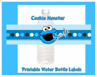 Minnie Mouse 1st Birthday Water Bottle Label