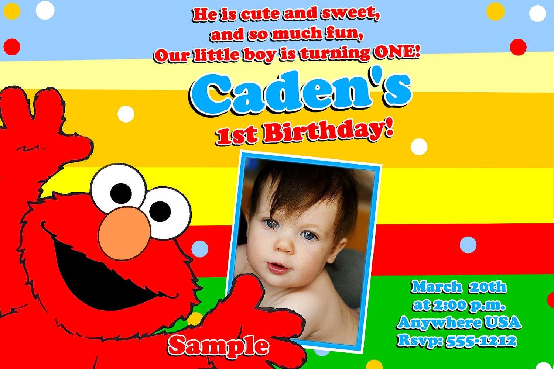 Sesame Street ELMO Birthday Invitations Digital Printable