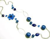 Cornflower Long Chain Necklace