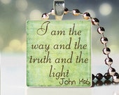 Christian Wearable Art Glass Tile Pendant - Buy 3 Get 1 Free
