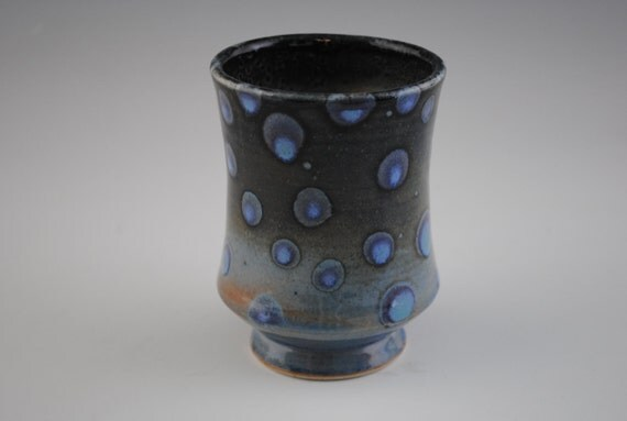 Cup, Blue with Bluer Spots Yunomi