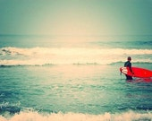 liquid courage - surfer photograph - 5x7 fine art print METALLIC