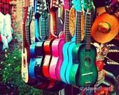 SALE - las guitarras -  los angeles photograph - 5x7 fine art print