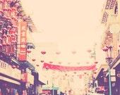 Chinatown San Francisco photography, xin nian kuai le, Happy New Year, red chinese lanterns, urban city travel romantic, asian inspired