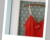 Lingerie -- Romantic Slip -- Hand-dyed in Strawberry Red