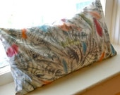 STORE CLOSING -Buckwheat Pillow: Liberty of London Fabric -- Soft Feathers
