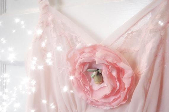 Vintage Lingerie: Pale Pink Slip Dress (M)