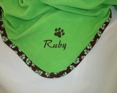 Pet Blanket  Personalized    Spring