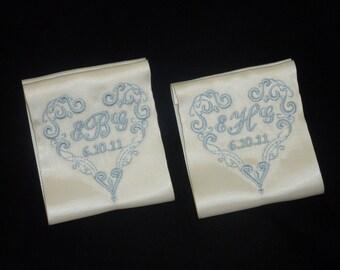 Wedding Dress Label.Wedding Dress Labels.Wedding Dress Patch.Something Blue Wedding Patch.Ribbon Heart Dress Label.
