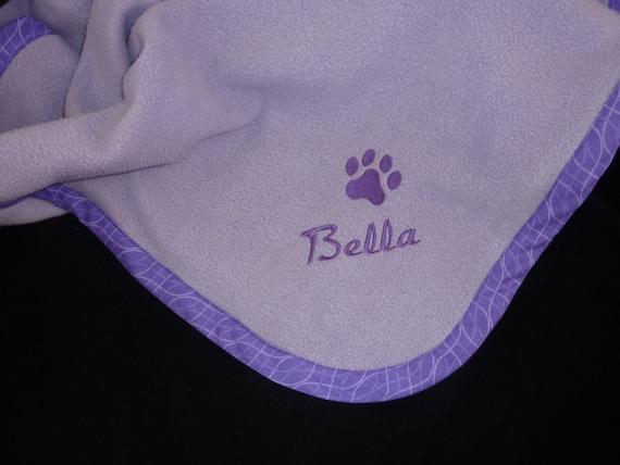 Pet Blanket   Personalized - Purple