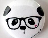Nerdy Panda Face - 1 Inch Pinback Button