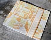 E Letter Lovers Notebook, Orange, Plain paper