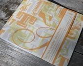 T Letter Lovers Notebook, Orange, Plain paper