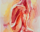 Hiding Figure Intense Reds and Orange - Fine Art Print