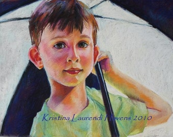 Custom Pastel Portrait from Your Photograph - Sample