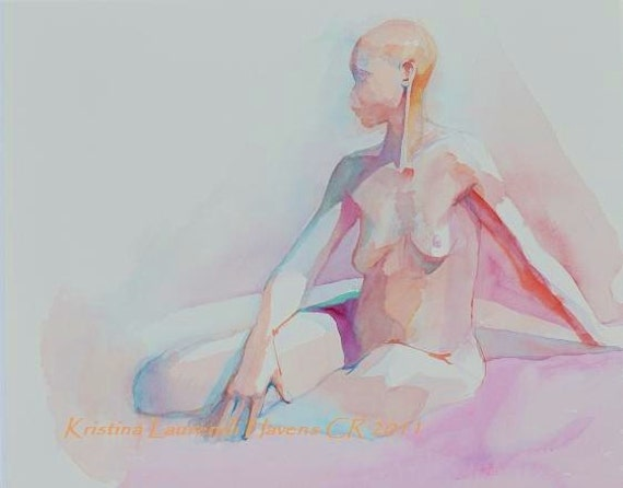 Original Painting of a Woman - Watercolor Art