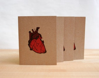 Anatomical Heart Greeting Card