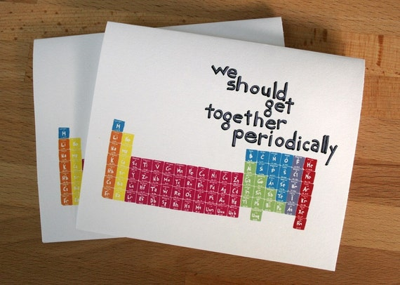 Set of 4 Get Together Periodically Cards