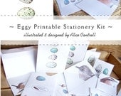 Eggy Stationery Kit - Digital - Printable PDF