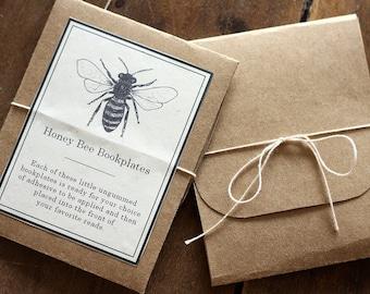 Bee Bookplates - Digital - Printable PDF