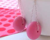 Hot fuchsia pink swing earrings