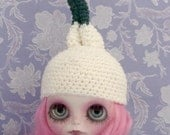 Ayalaythe - Vegetables crochet hat  for Blythe doll - onion
