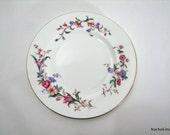 Wedgwood Plate, Devon Sprays English Bone China Flowers