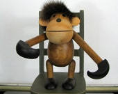 Danish Modern Kay Bojesen Monkey Hanging with Fur
