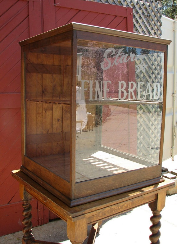 Star Bread Display Case General Store Antique By Barnowlgoods