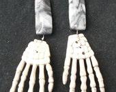 Skeleton Hand Dangle Earrings