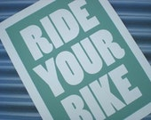 Mint Ride Your Bike Poster