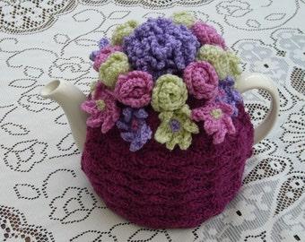 Tea Cosy Tea Cozy Teacosy Teacozy Cosie Cozy Crochet Plum (Made to order)