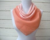 vintage Peaches and Cream squares scarf