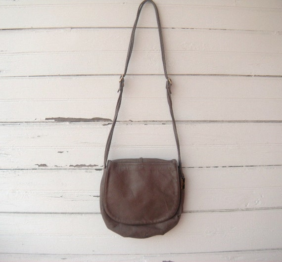 Vintage 70s 80s Jordache Taupe Leather Purse