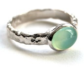Reserved for veganyogi - Sterling Silver and Chalcedony Ring