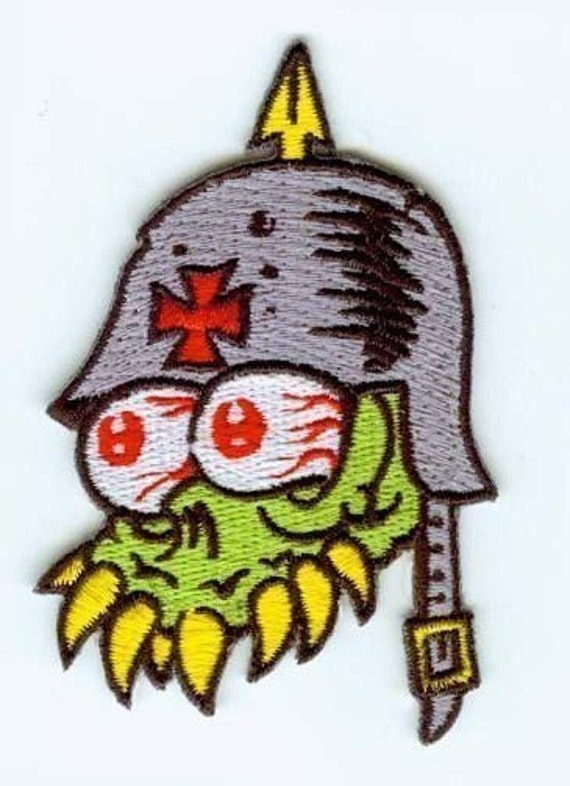 embroidered german fink iron on patch