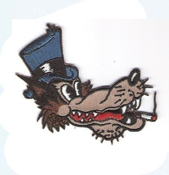 embriodered lone wolf traditional tattoo iron on patch