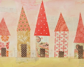 Red Roofs Print