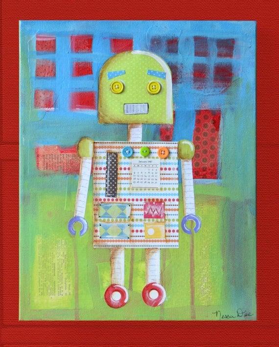 Candy Bot -- Original Painting