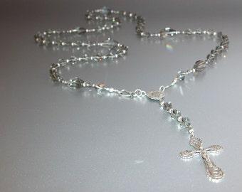 Swarovski Rosary with Edwardian Crucifix and Rosary Center (no.5)