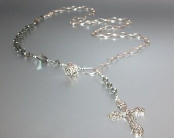 Swarovski Rosary Chain Belt with Elegant Crucifix (no.8.)