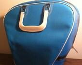 Bright Blue Retro Bowling Bag