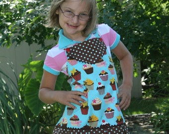 Children's Retro Apron - Childs Apron - Kids Apron - Childs Full Apron - Toddler Apron