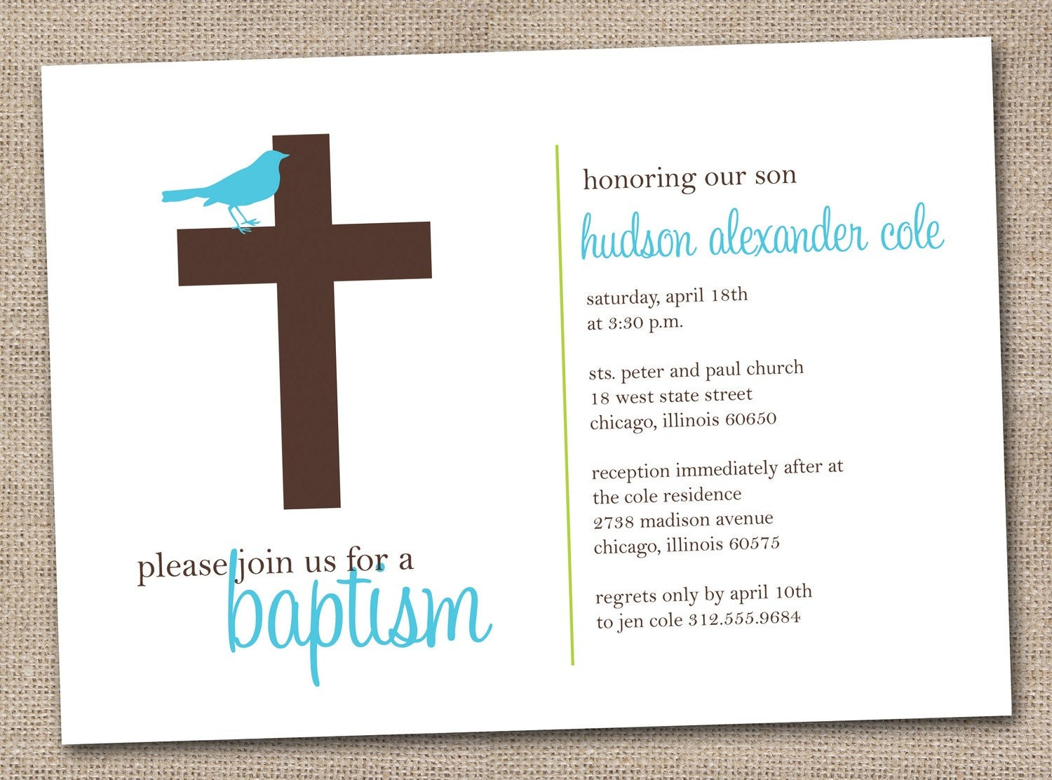 Geeky image in printable baptism cards
