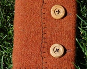 Cozy Orange Sweater Book with Wooden Buttons