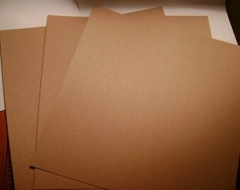 chipboard kraft sheets 12x12 Sscrapbooking album covers supplies crafts 3 pieces Scrapbooking album supplies bare chipboard
