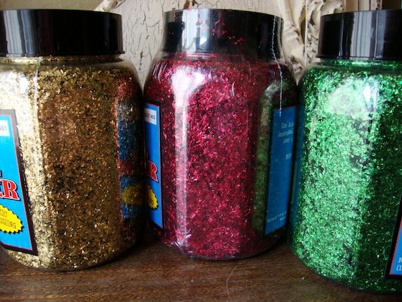 Craft glitter foil bulk glitter green red by kraftychicdesigns for Craft kits for kids in bulk