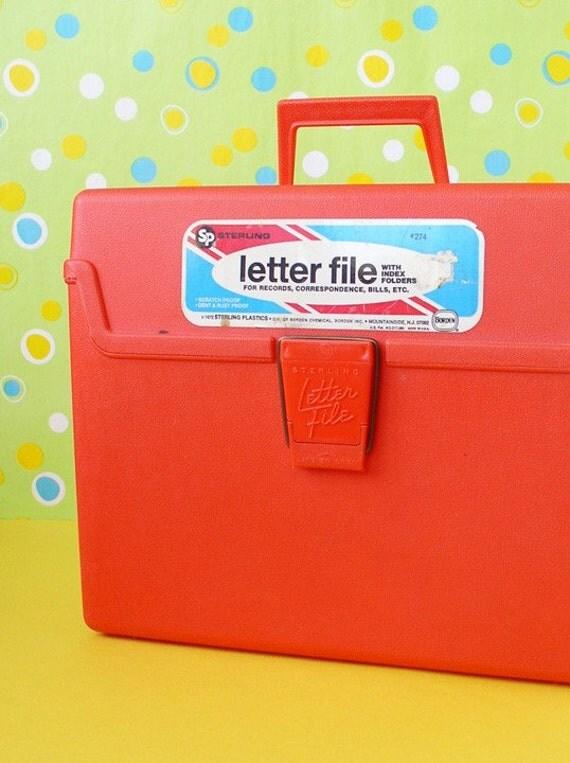 Acrylic Box Letter Making : Orange letter file plastic box storage organization by
